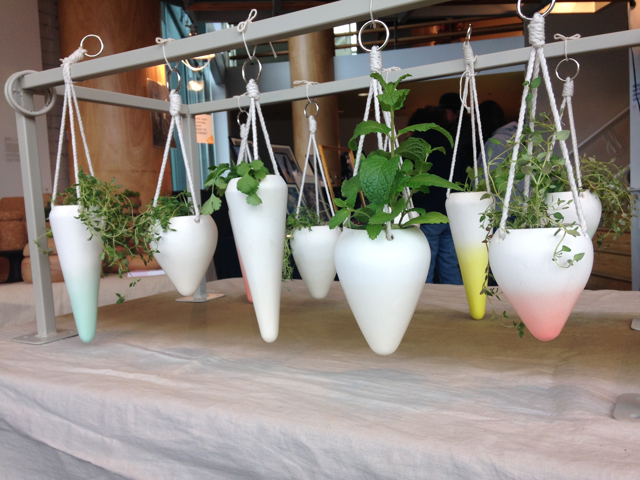 Tiffany and Joanne's beautiful hanging planters! I love the gradients!