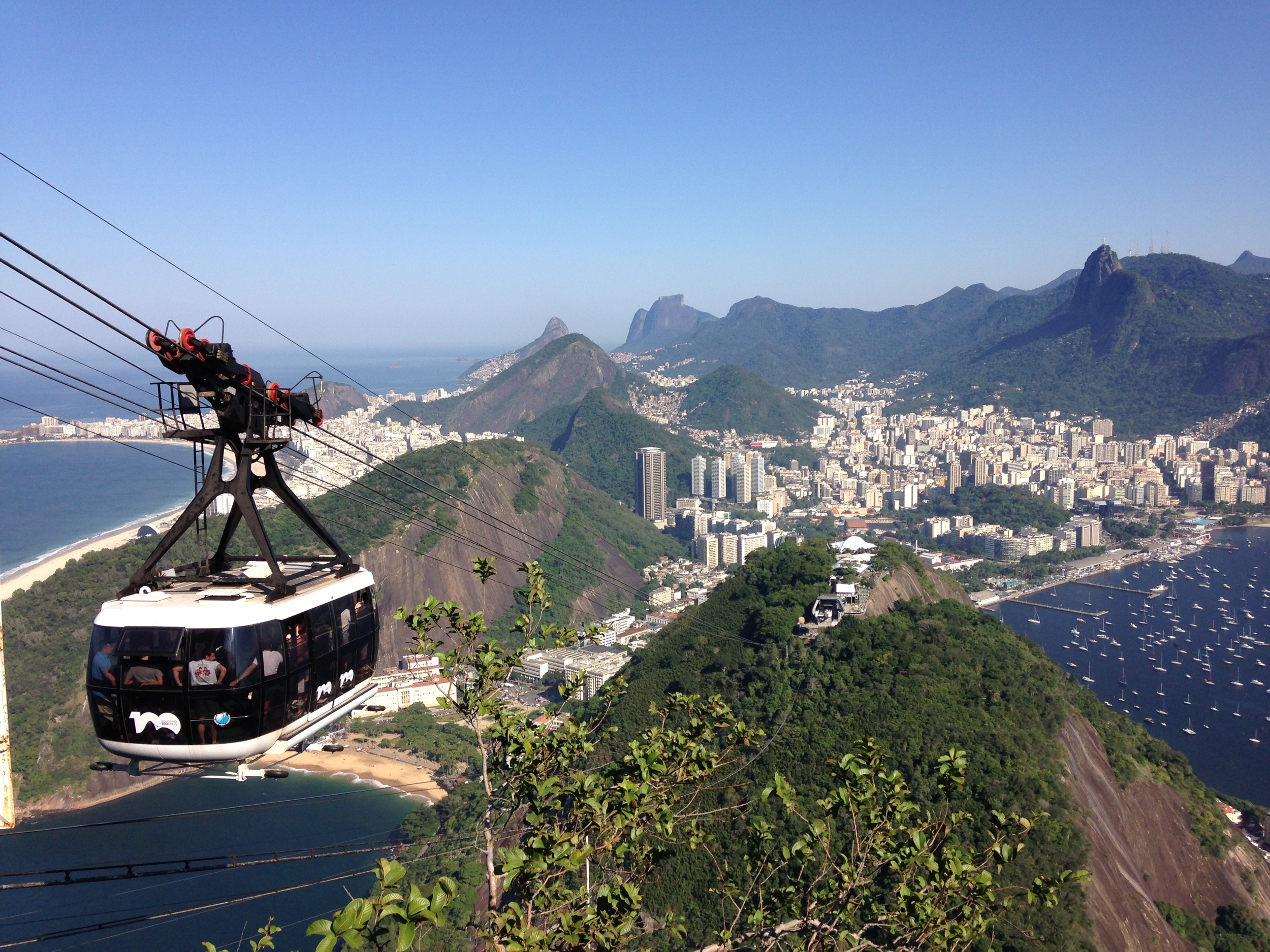 Sugar Loafs and the beautiful view of Rio
