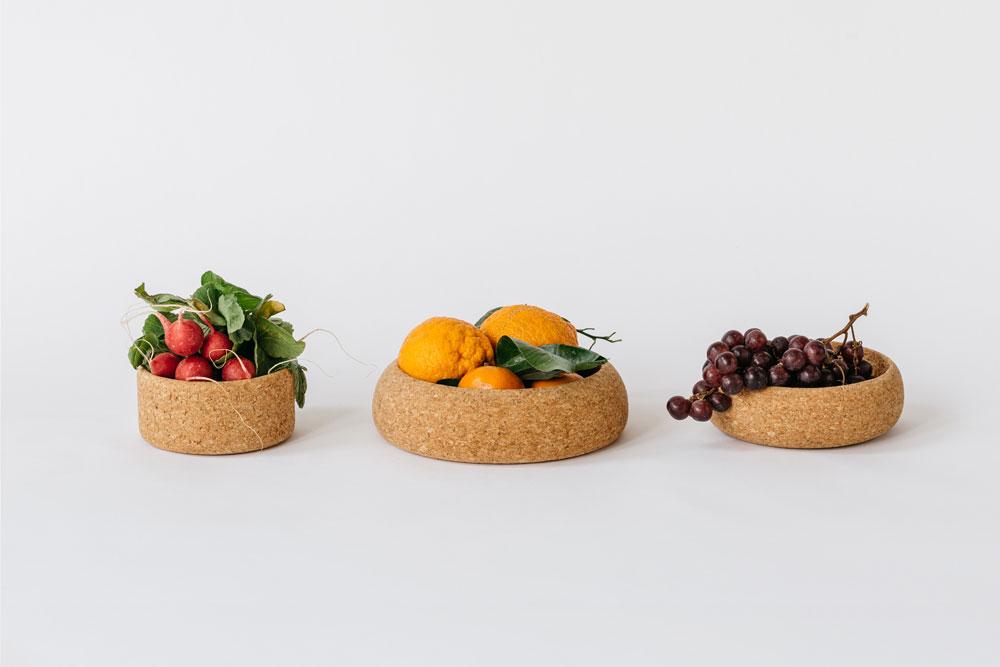 Cork Planters acting as fun fruit bowls!