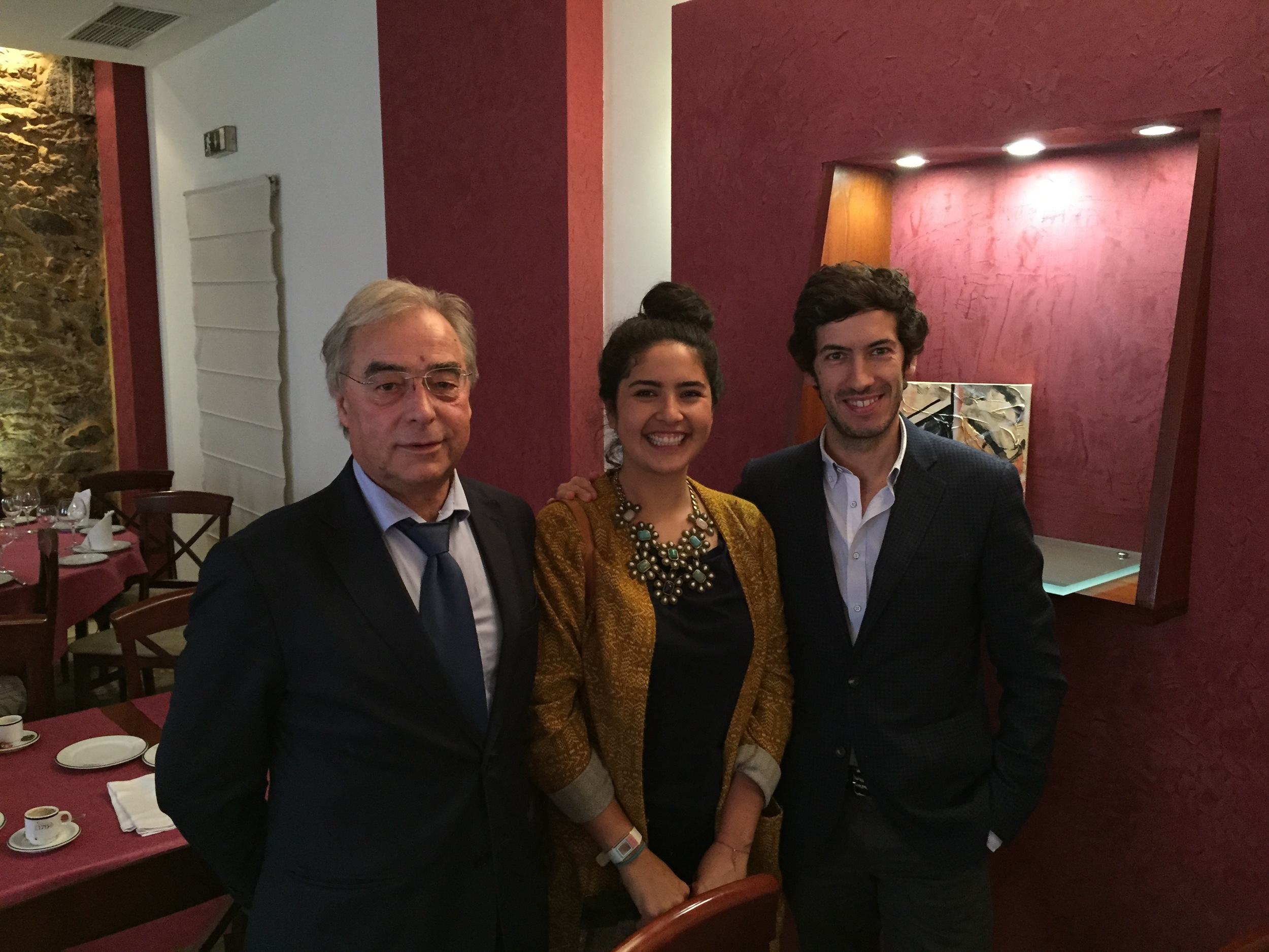 Myself with the President (João Rui Ferreira)and Vice President (Carlos Manuel)of the Portuguese Cork Association!