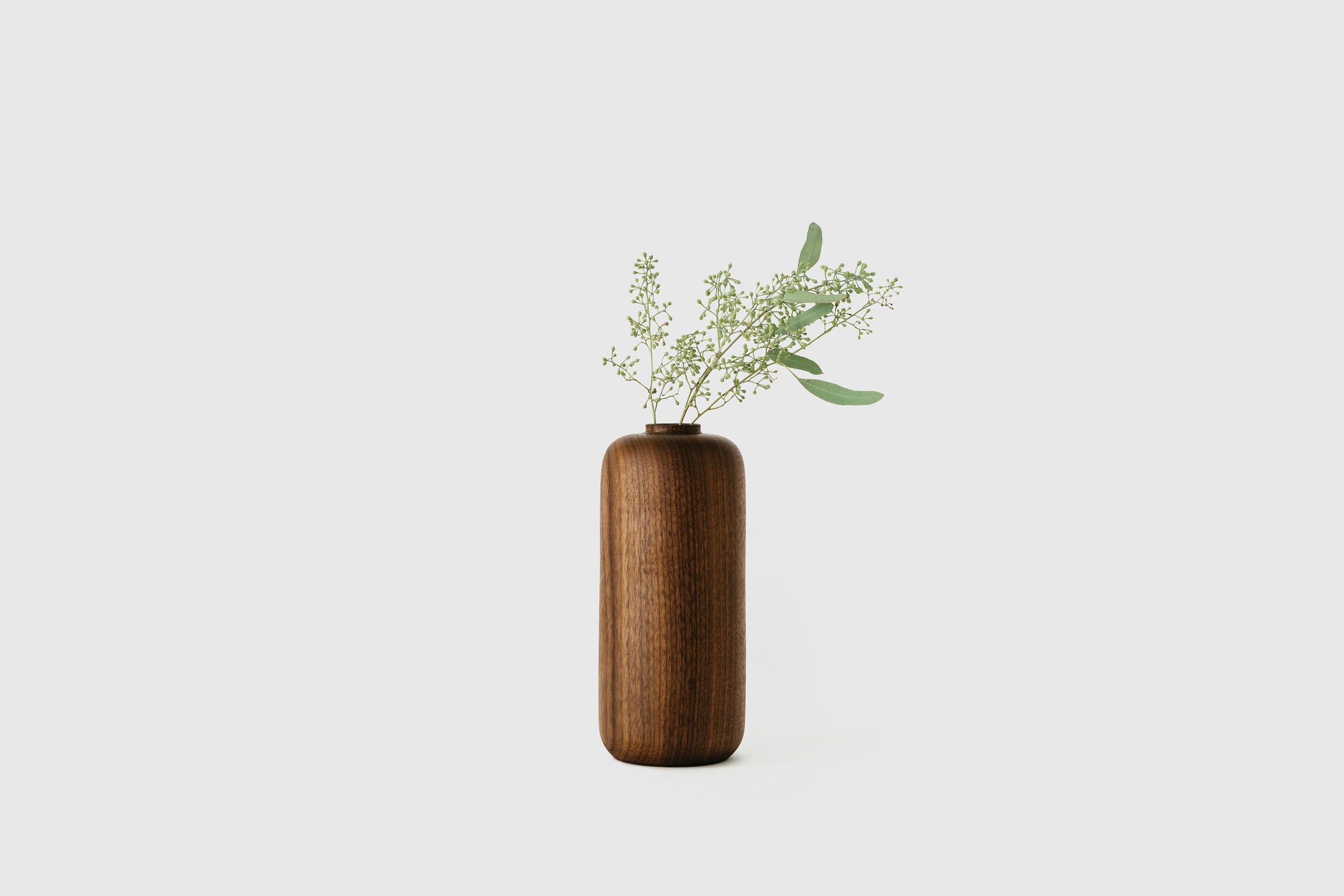 Walnut Tall Vase, $115