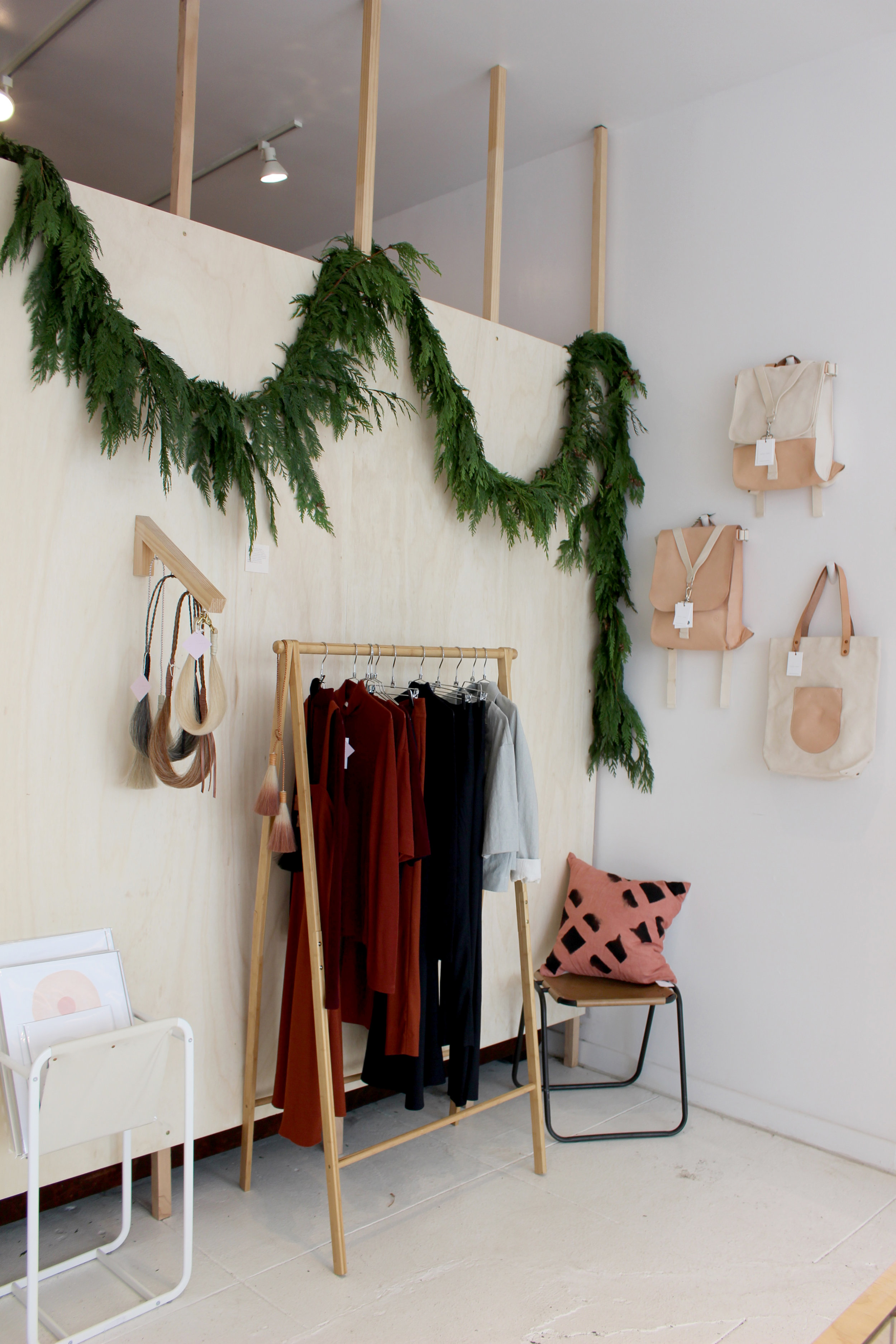 Waltz clothing, Golden Pony Necklaces and bags by Materials and Process.