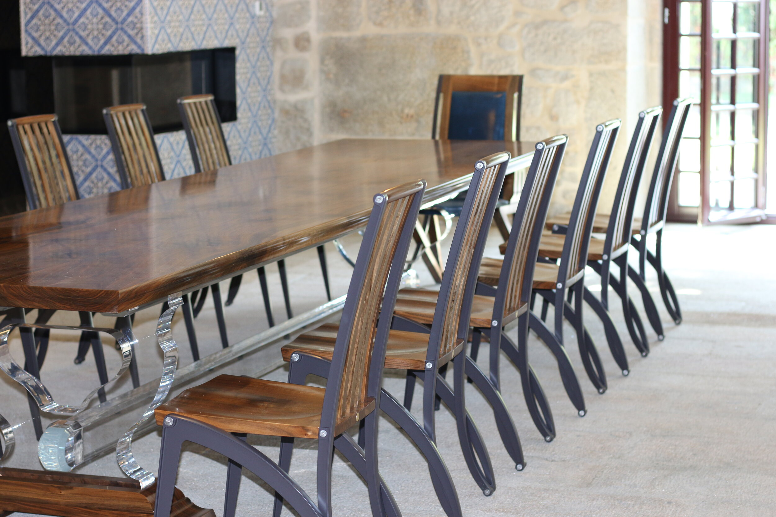 side view collection of Màntide dining chairs