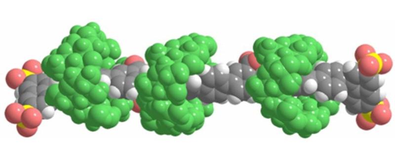 Image: Rotaxane molecular structure.