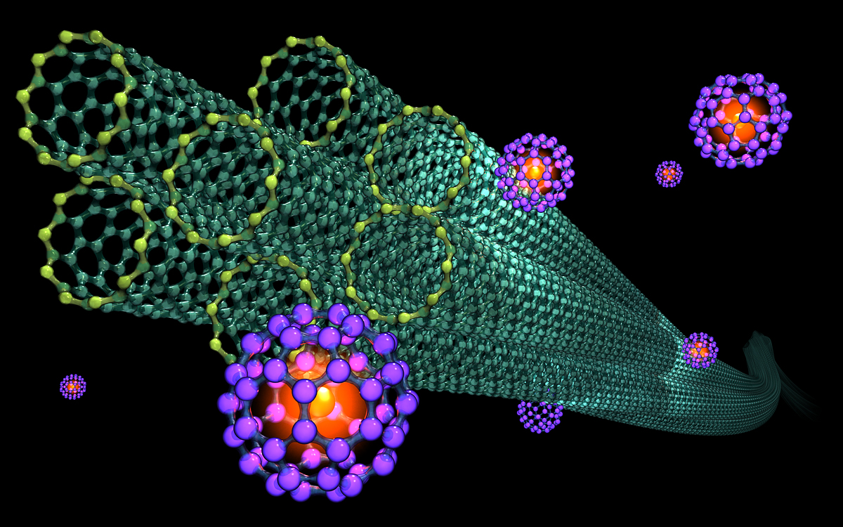 Nanotubes and caged nitrogen