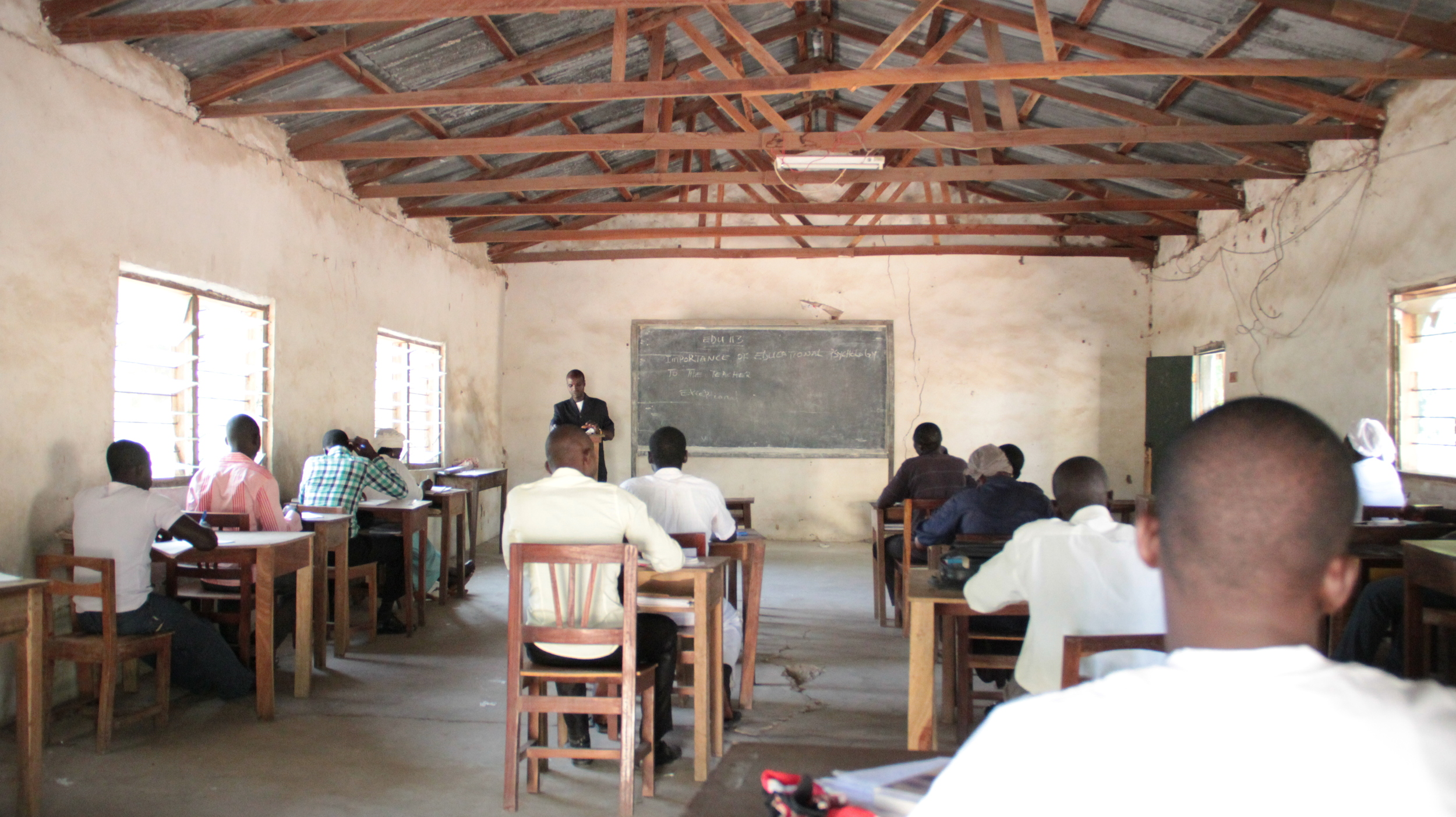 class in session in Old Chapel Building