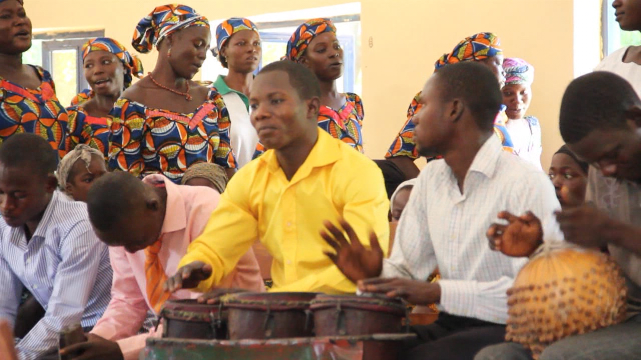 Singing, dancing and drumming are staples of worship in the Nigerian church.