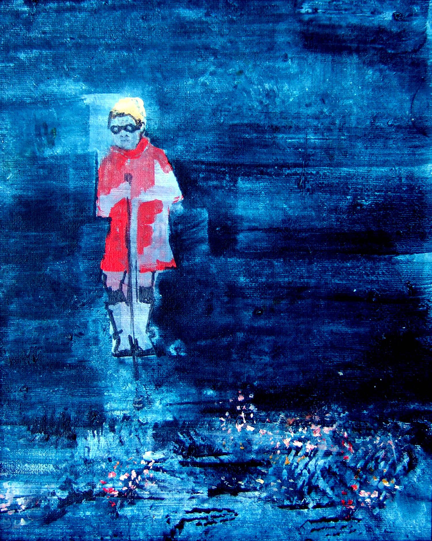 Bop Bop Bandit (2010), acrylic on canvas, 25.4 x 20.3cm