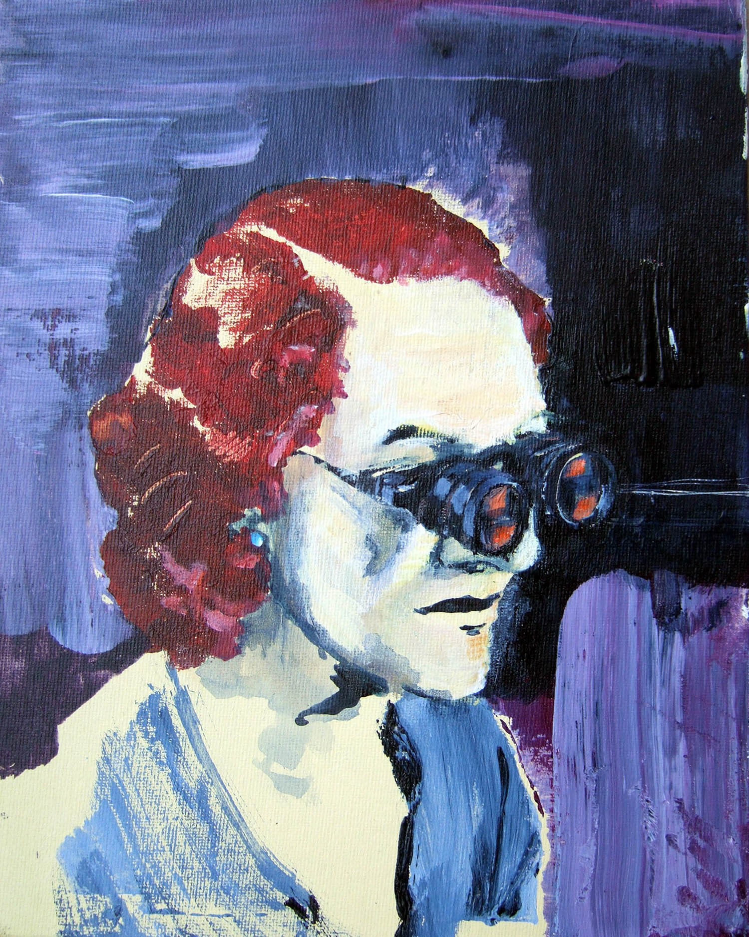 Foresight (2010), acrylic on canvas, 25.4 x 20.3cm