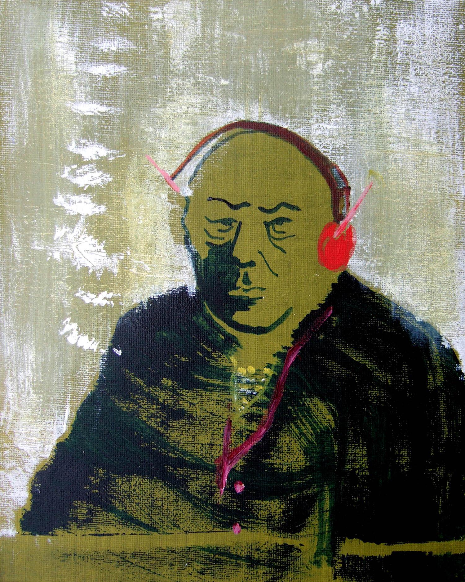 Roger-Roger (2010), acrylic on canvas, 25.4 x 20.3cm