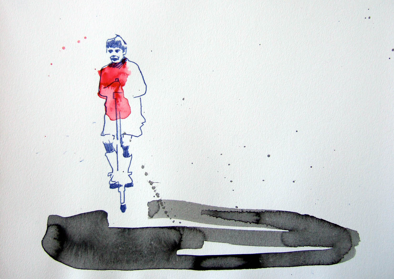 Bop Bop Bandita (2010), watercolour and ink on paper, 210 x 297mm