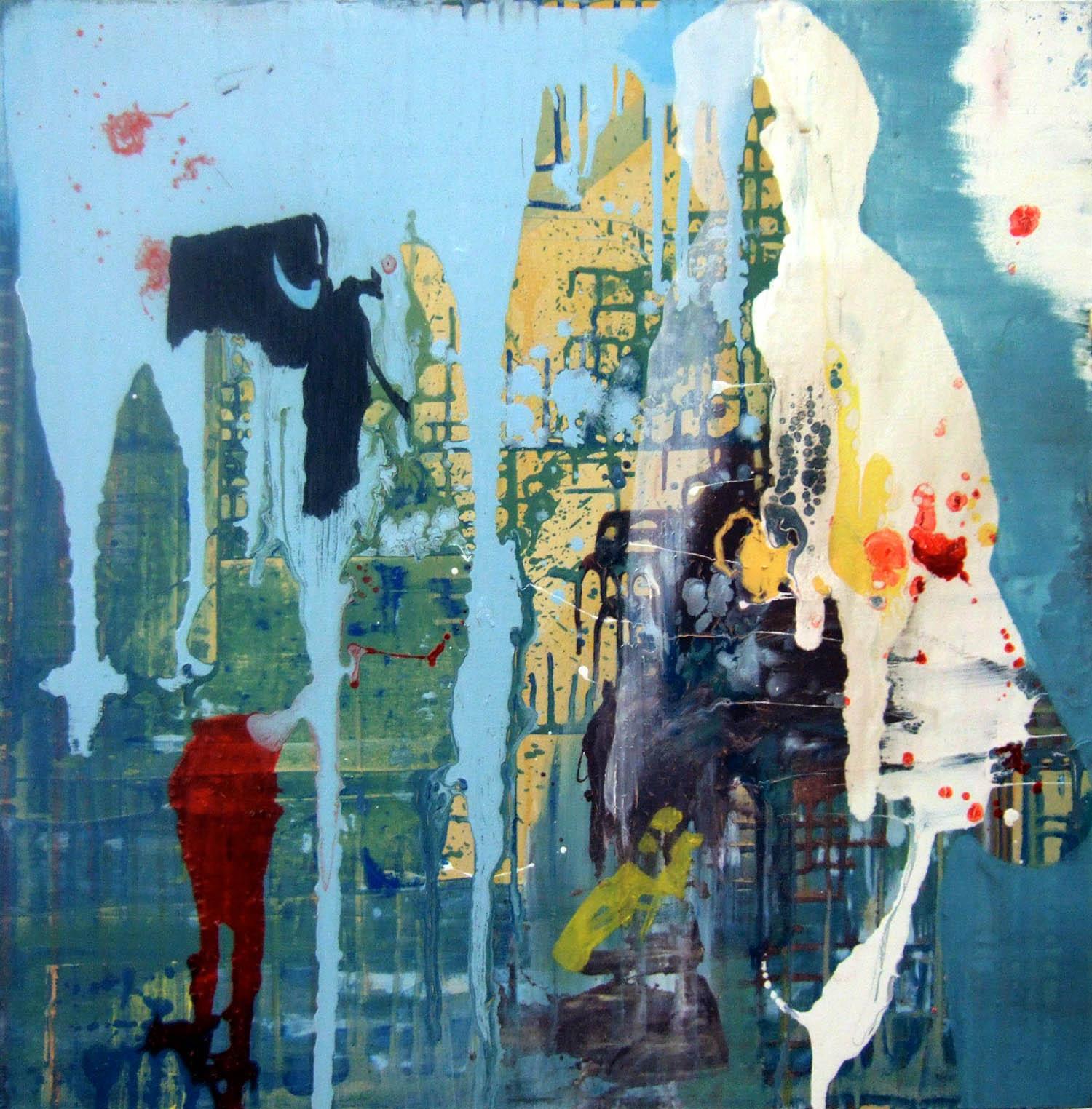 Bull (2006), acrylic and oil on canvas, 80 x 80cm