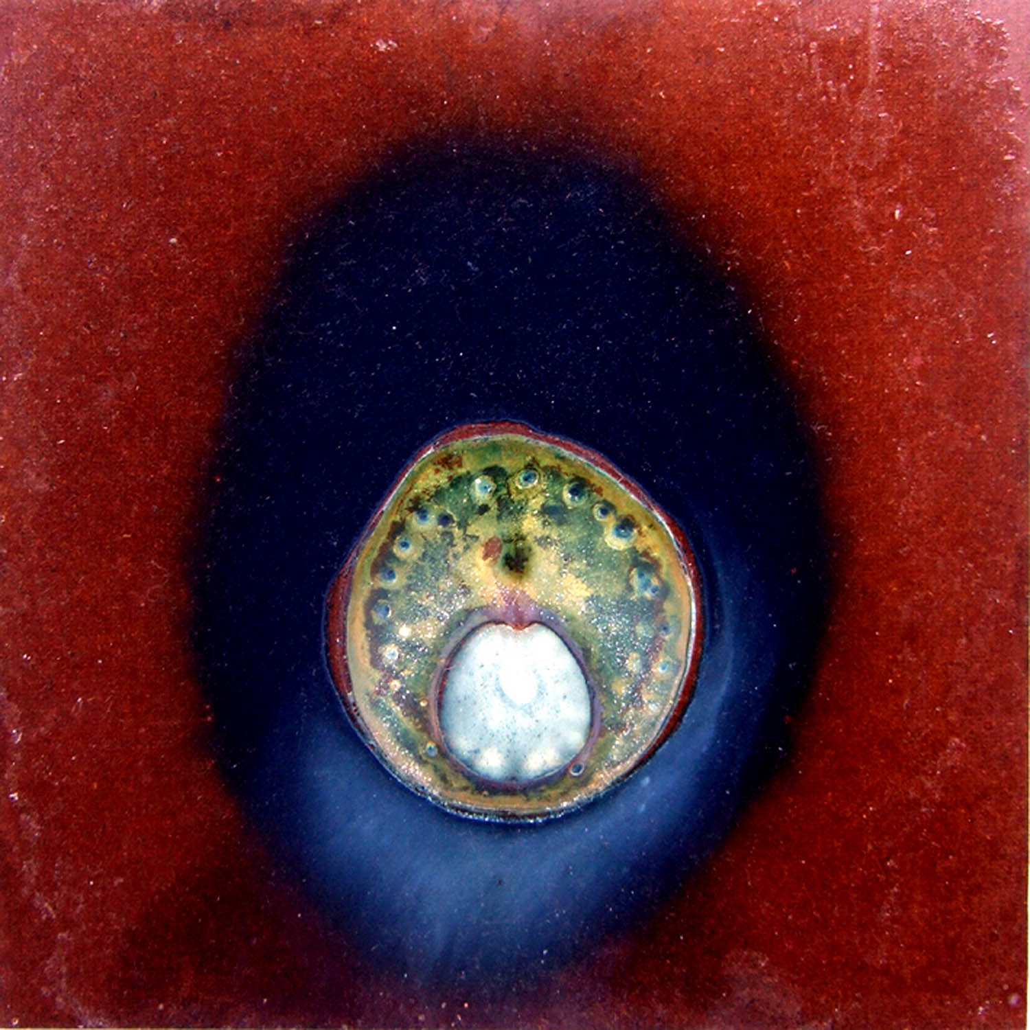 cosm 1a (2007), mixed media on particle board, 40 x 40cm