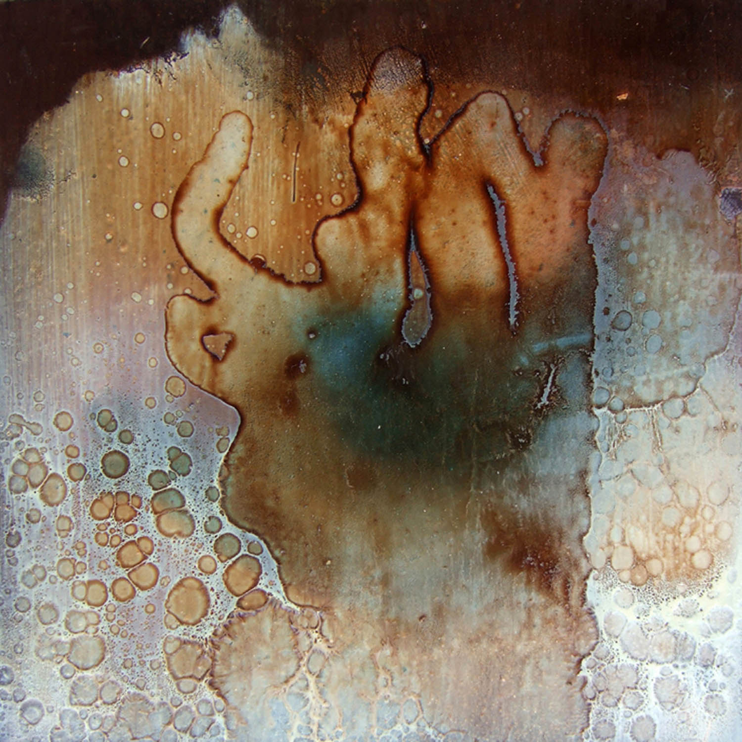 cosm 2b (2007), mixed media on particle board, 40 x 40cm