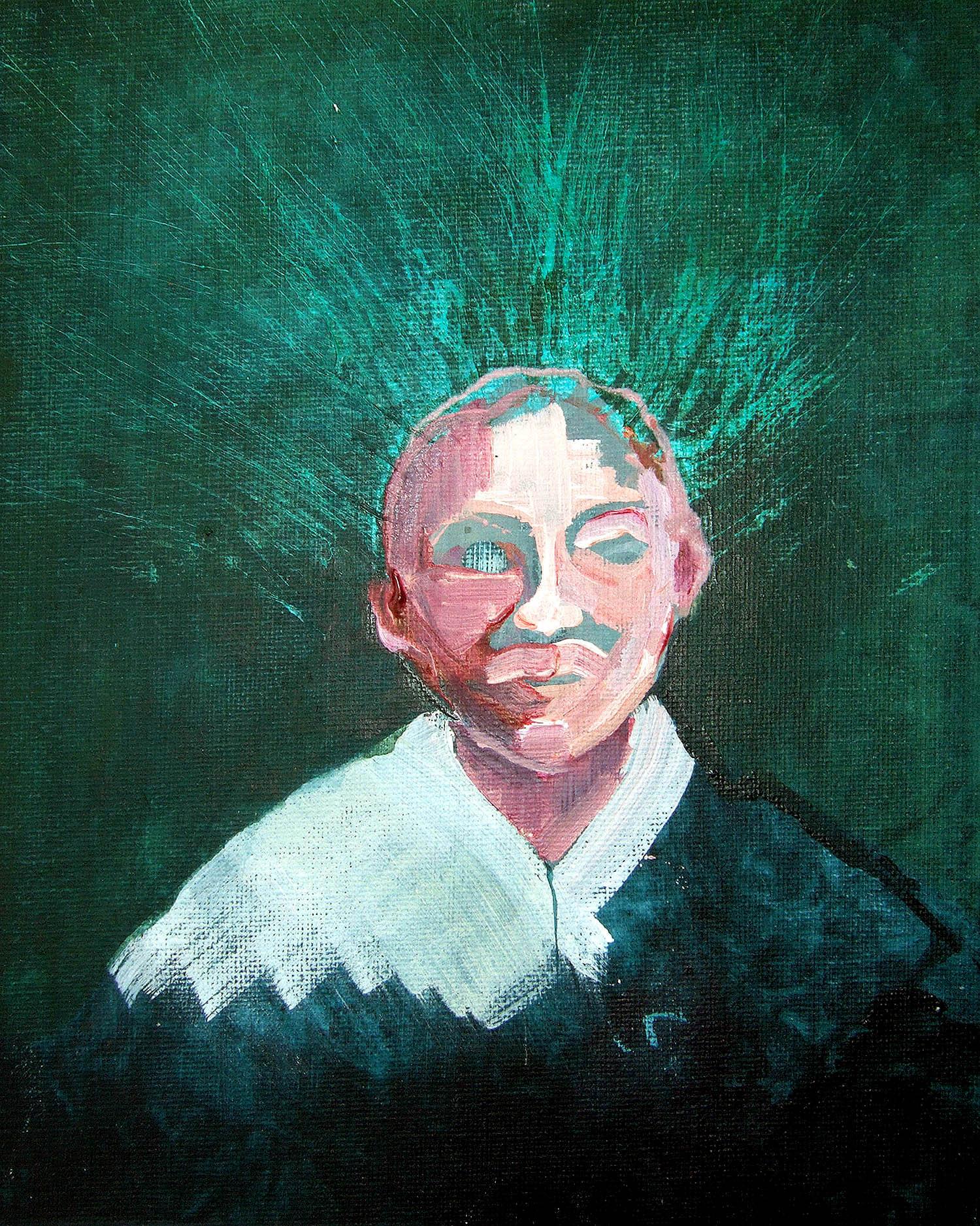 Dream mist (2010), acrylic on canvas, 25.4 x 20.3cm