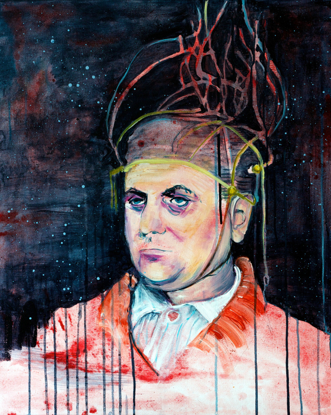 "Kathryn Cowen, 'Mr Nanoo"", 2013, acrylic and ink on canvas, 76.5 x 61cm"