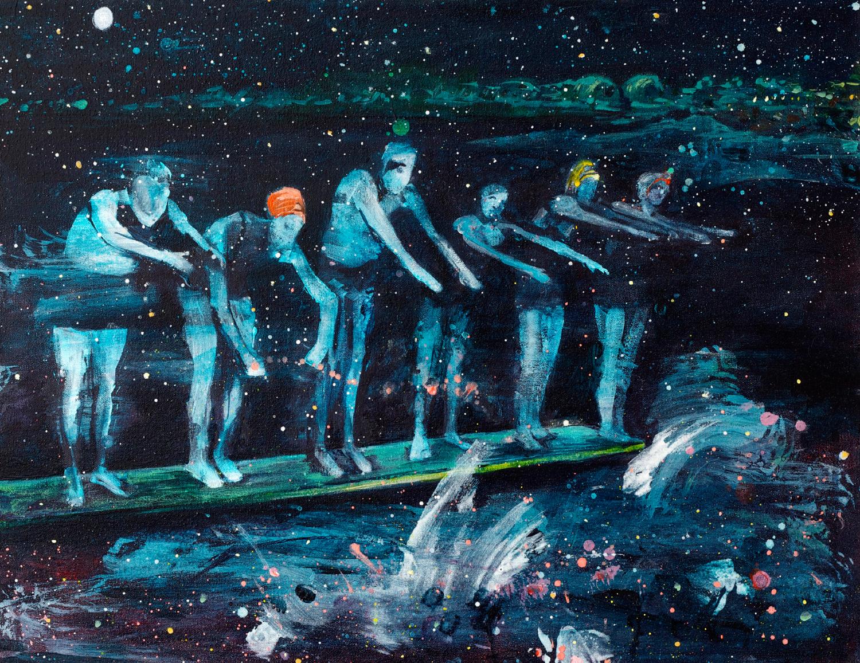 "Kathryn Cowen, ""The World Beneath"", 2013, acrylic and ink on canvas, 50.5 x 65.2cm"