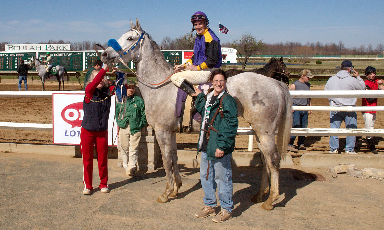 Tacticianor in the winner's circle at Beulah Park, April 1, 2009. Photo by Brad Conrad.