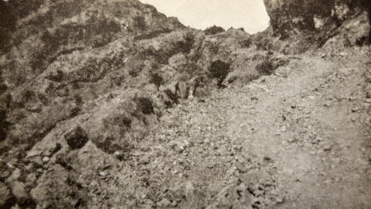 «Den øverste del av Khureba-passene.» Fotografi av Sejersted.