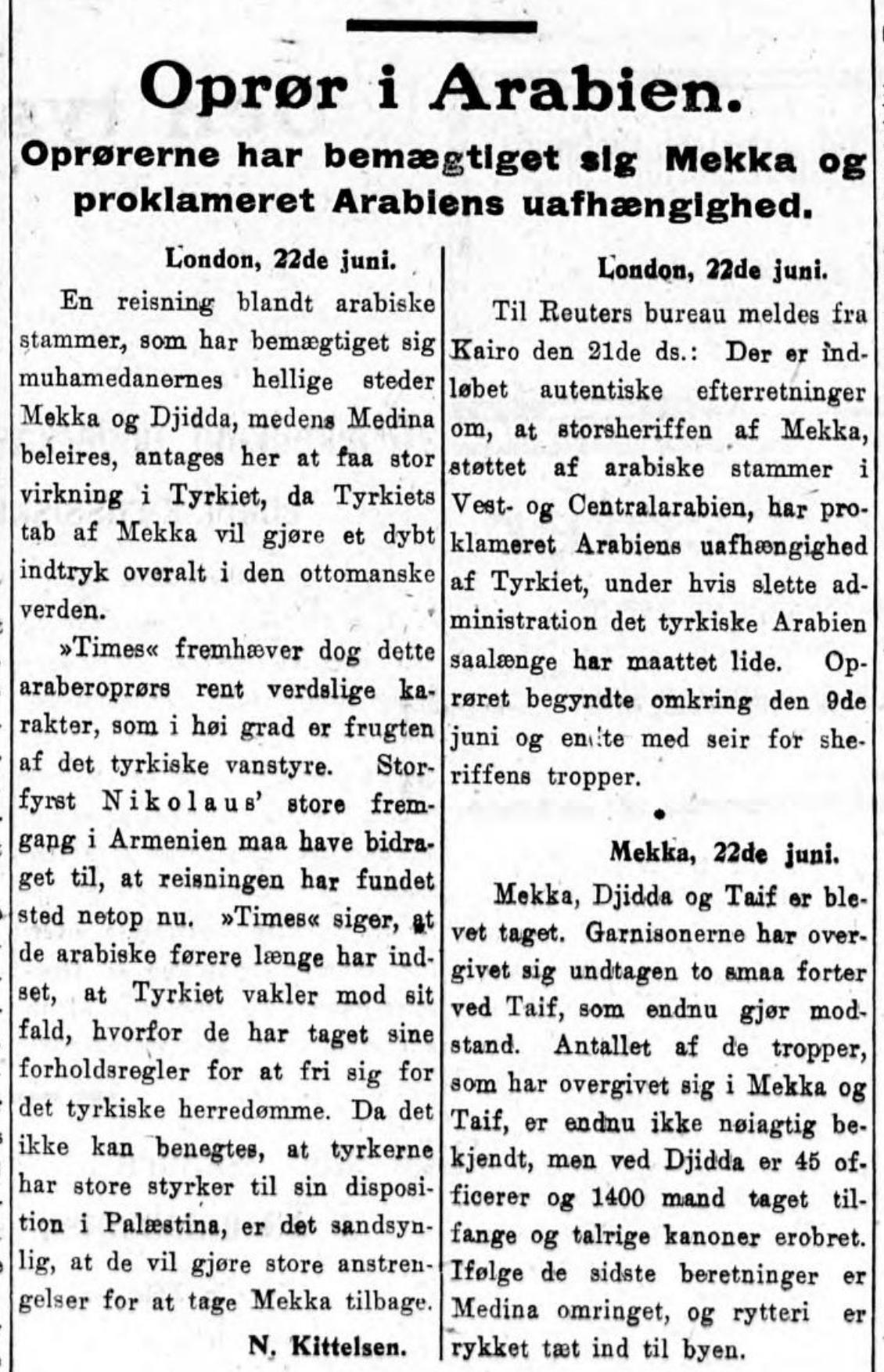 Aftenposten , 23. juni 1916