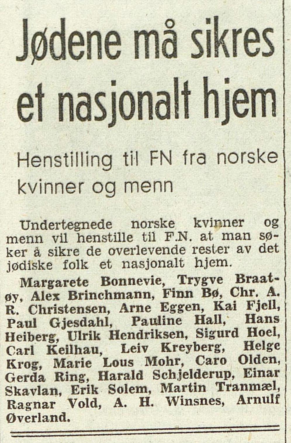 Dagbladet , 15. mai 1948
