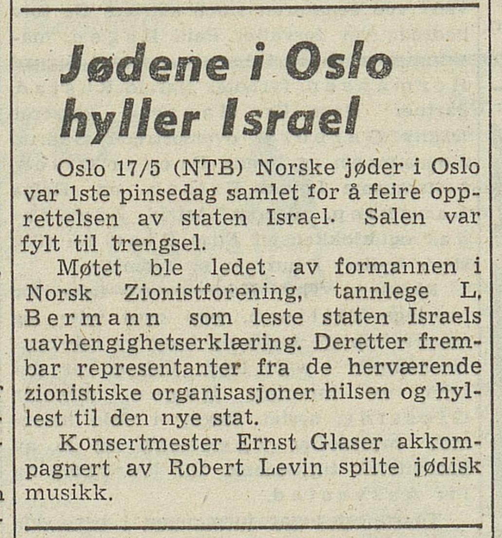 Arbeiderbladet , 18. mai 1948