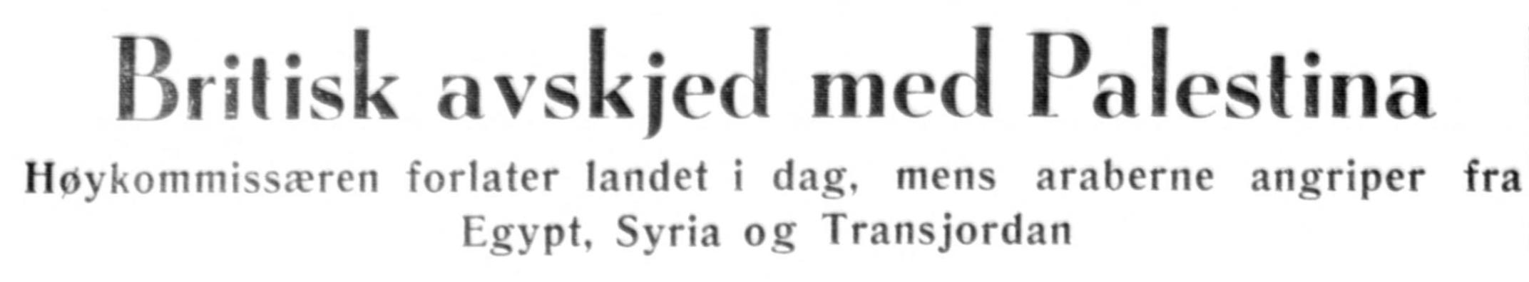 Aftenposten aften,  14. mai 1948