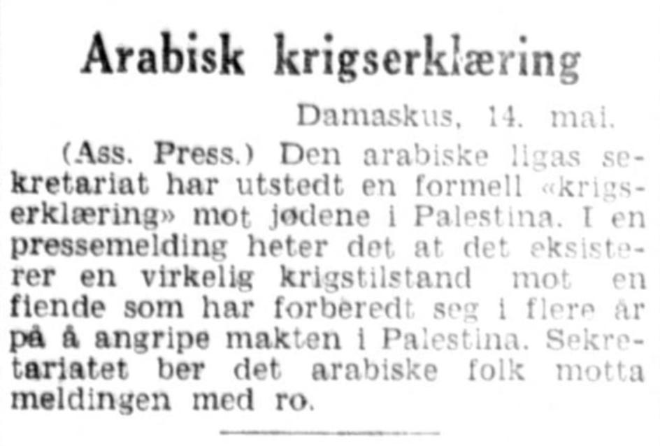 Aftenposten aften , 14. mai 1948