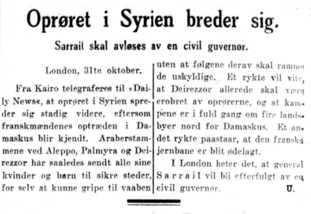 Omtale i  Aftenposten  31. oktober 1925
