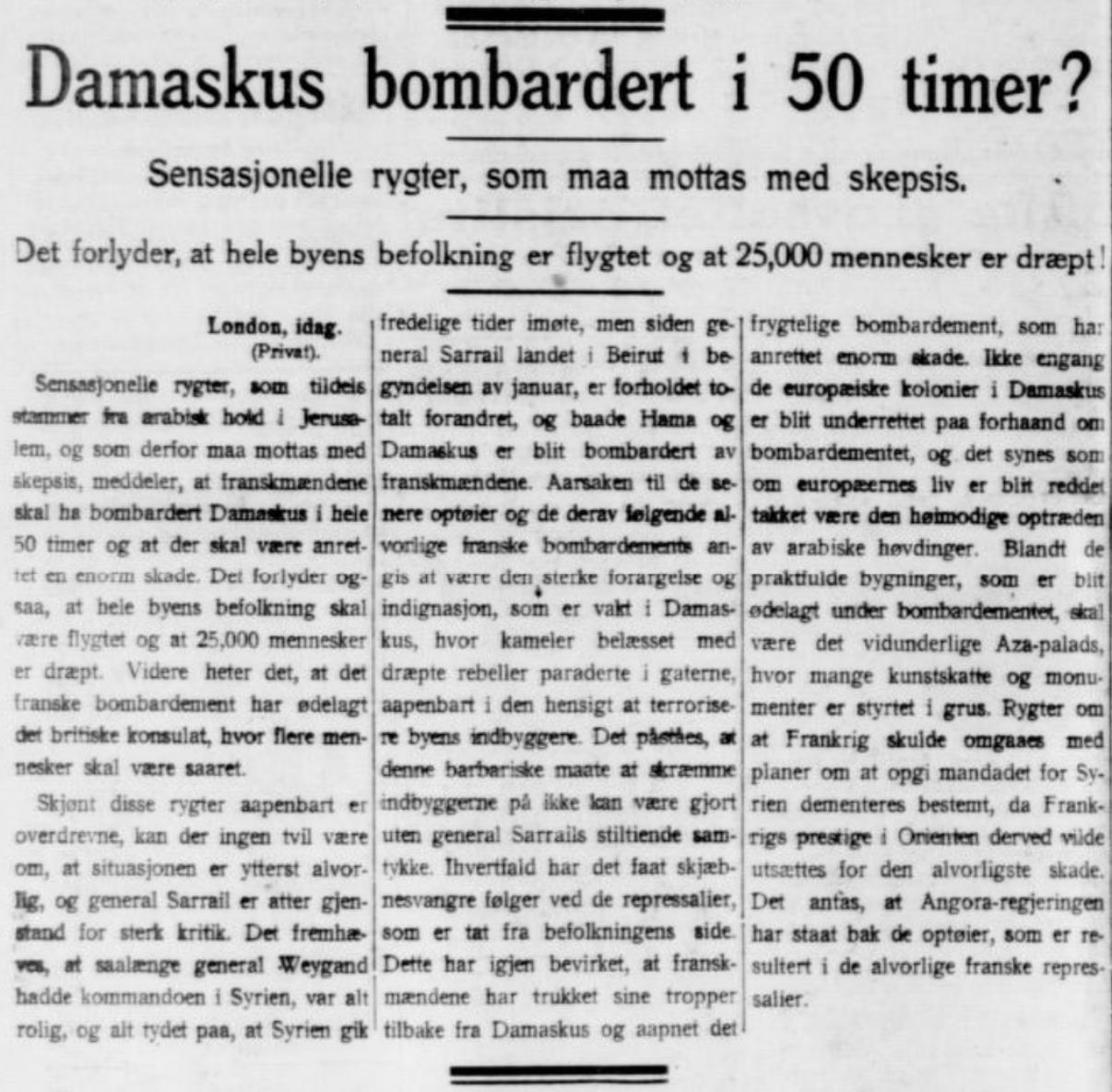 Omtale i  Stavanger Aftenblad  27. oktober 1925