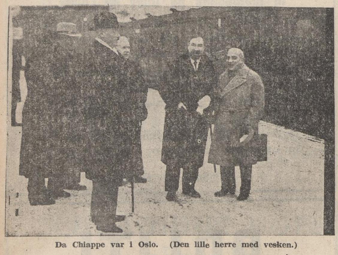 I avisas  Rogaland  vart Chiappe, som hadde vore i Oslo, omtalt som «den lille Napoleon», 9. desember 1940
