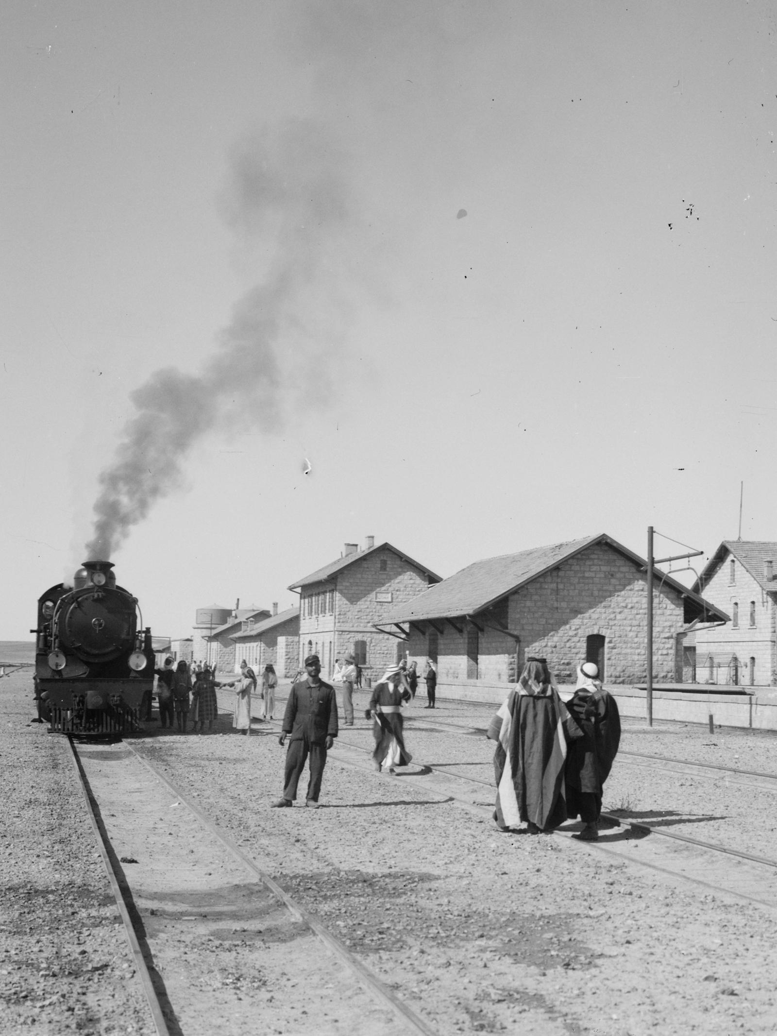 Ma'ān togstasjonen i Transjordan langs pilgrimsruta til Medina. ( Library of Congress )