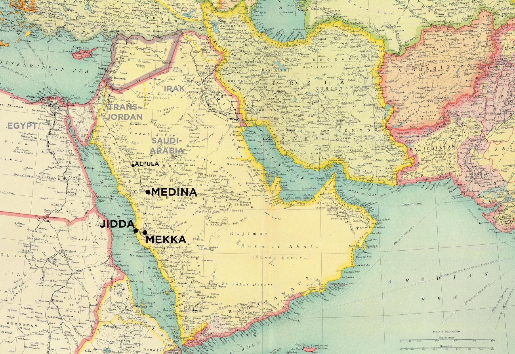 Kart frå 1922 ( The Times Atlas of the World )