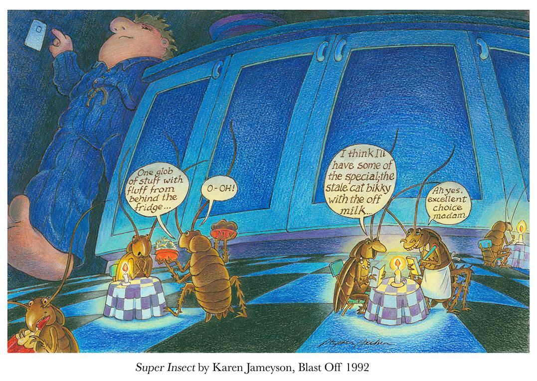 1992 Super Insect (by Karen Jameyson) School Magazine cover (Blast Off #8).jpg