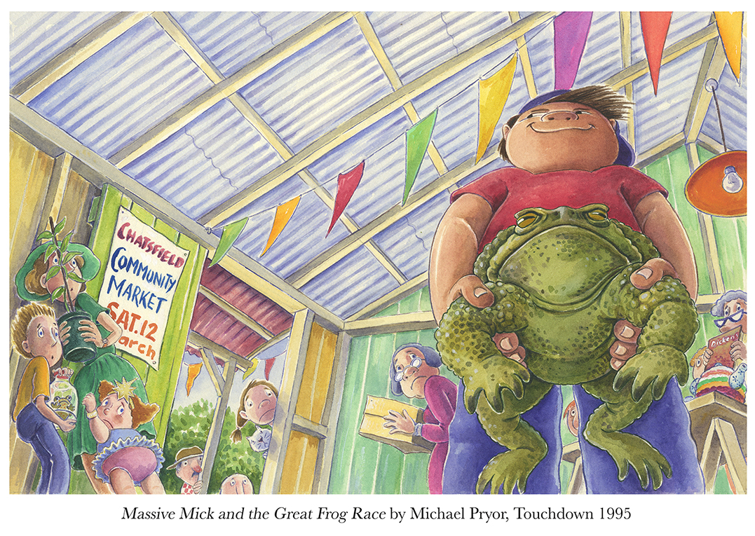 1995 Massive Mick and the Great Frog Race by Michael Pryor Touchdown.jpg