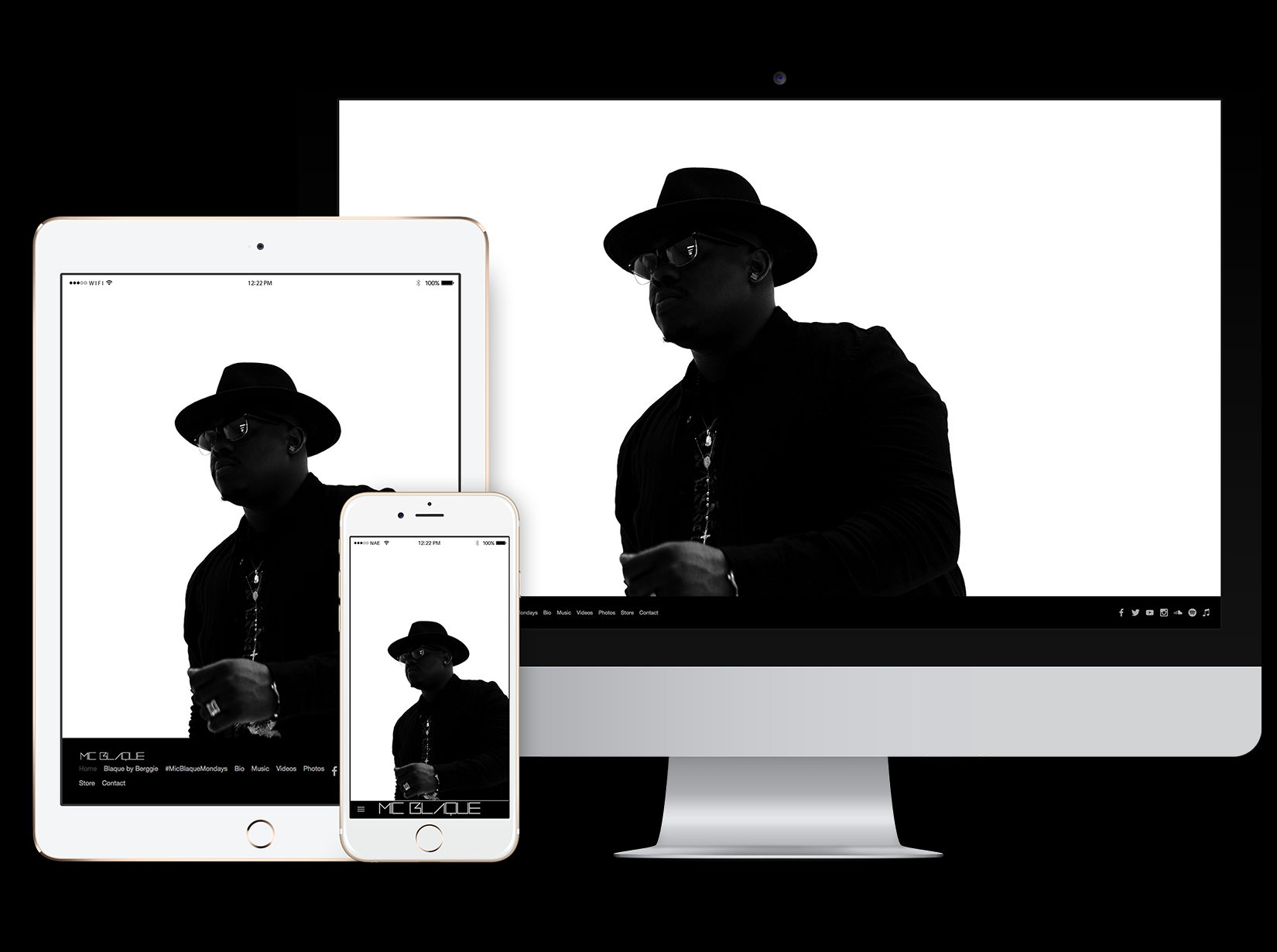 responsive website for recording artist & engineer Mic Blaque