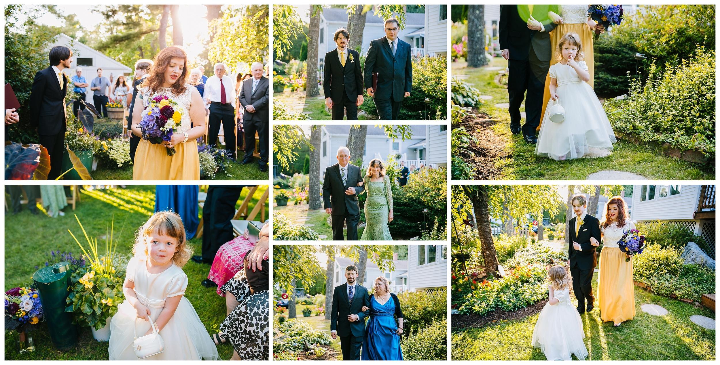 new england back yard wedding