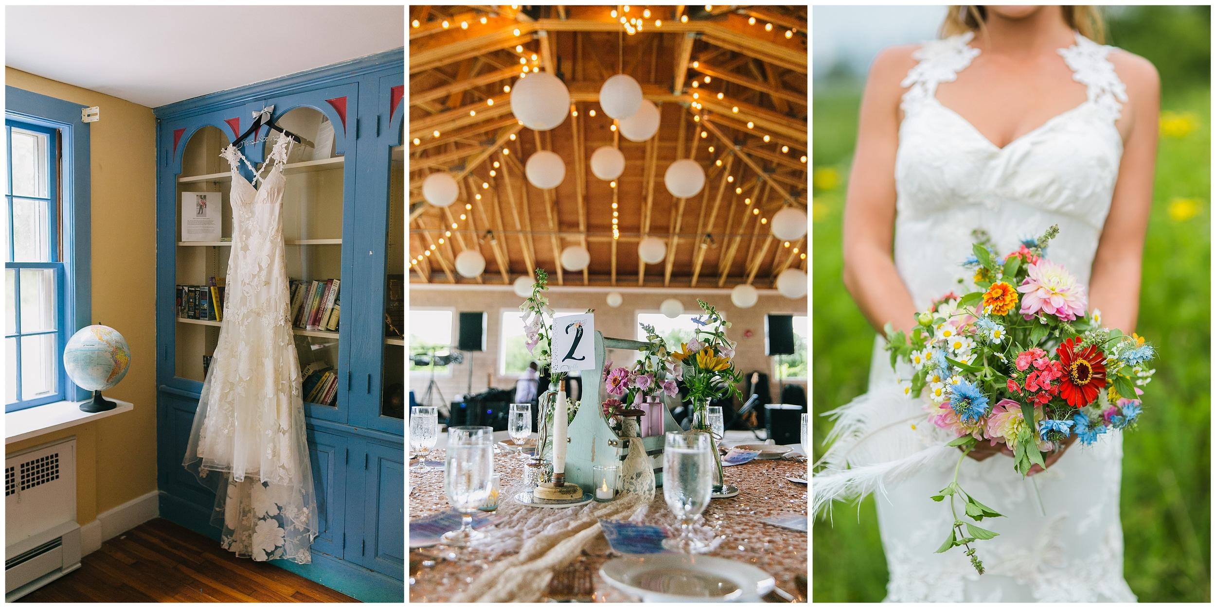 Emily Tebbetts Wedding Photography Thompson Island Boho Wedding MA Boston Harbor Islands