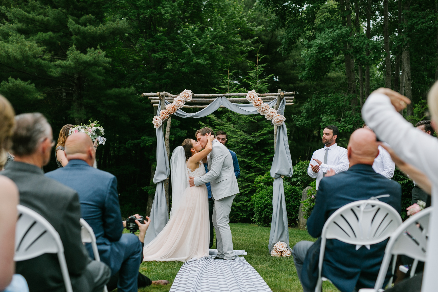 Emily Tebbetts Photography - back yard wedding gif atkinson nh confetti recessional bride and groom pizza truck -9.jpg