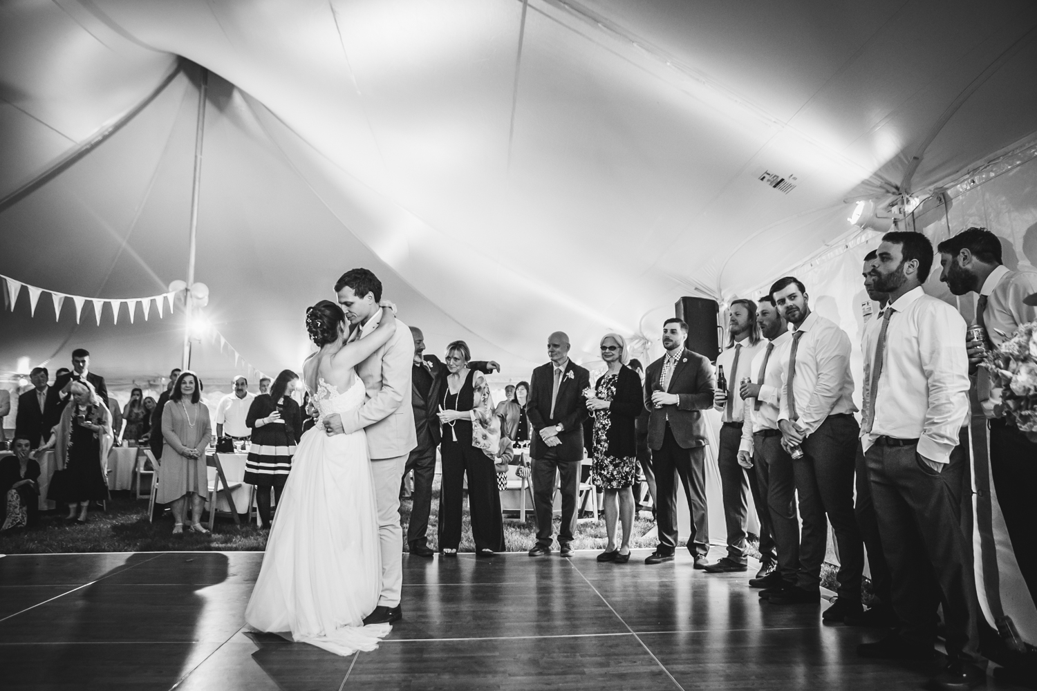 Emily Tebbetts Photography - back yard wedding gif atkinson nh confetti recessional bride and groom pizza truck -12.jpg