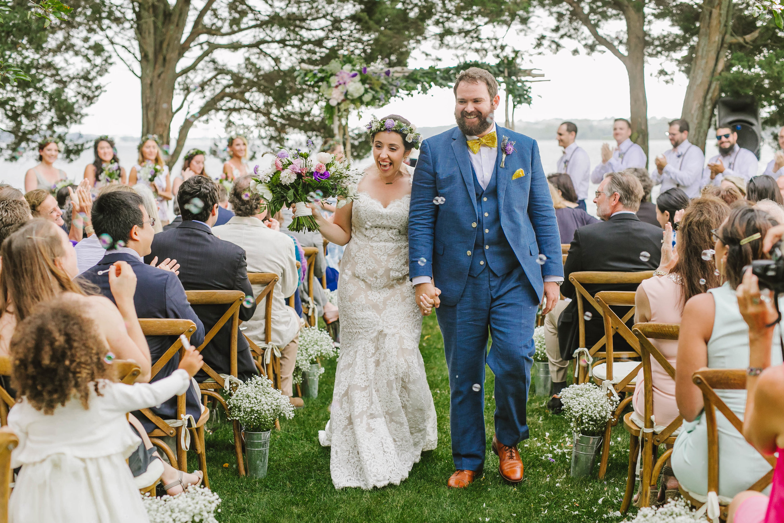 Mount Hope Farm Bristol Rhode Island RI New England Coastal Flower Crown Wedding - Emily Tebbetts Photography-12.jpg