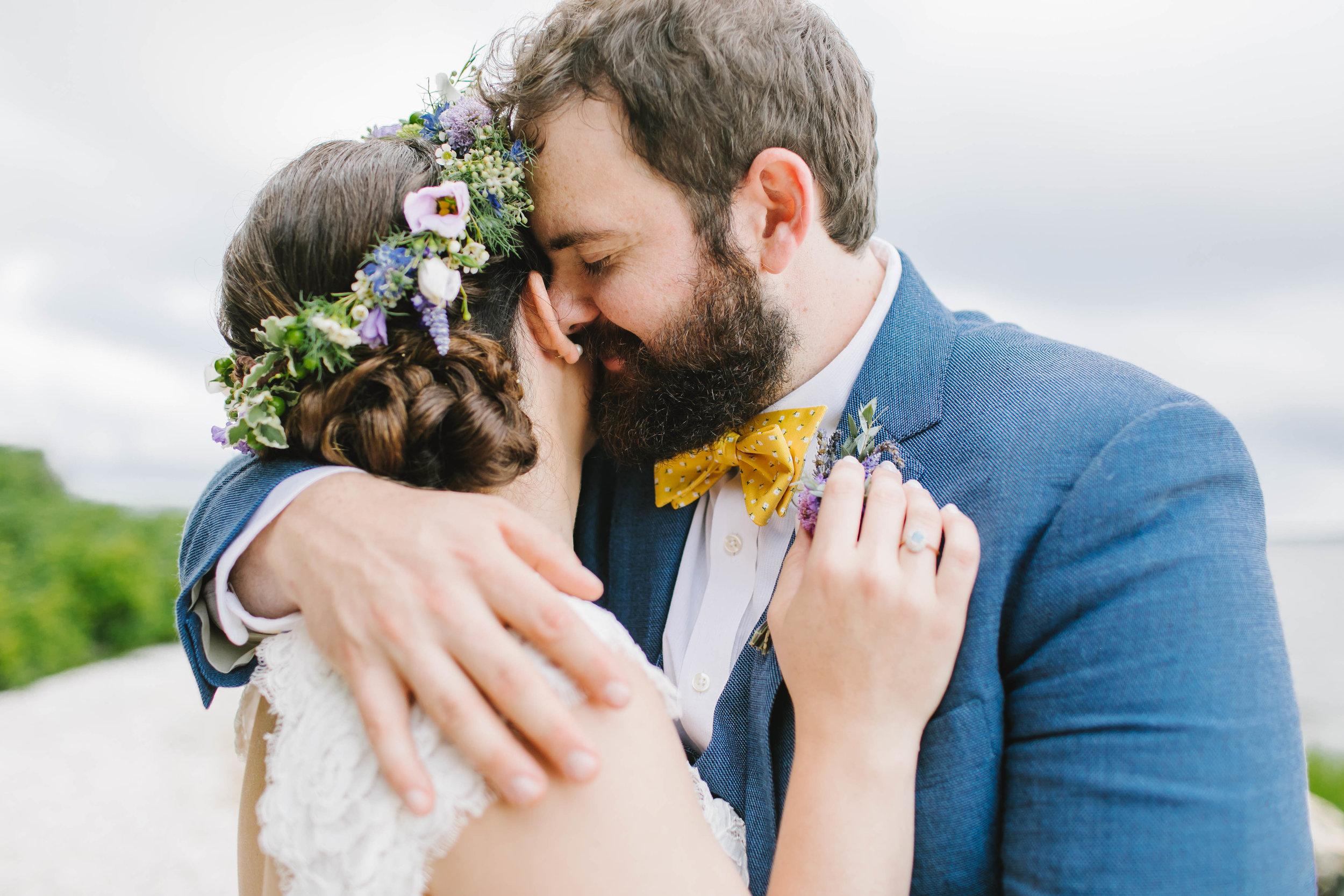 Mount Hope Farm Bristol Rhode Island RI New England Coastal Flower Crown Wedding - Emily Tebbetts Photography-15.jpg