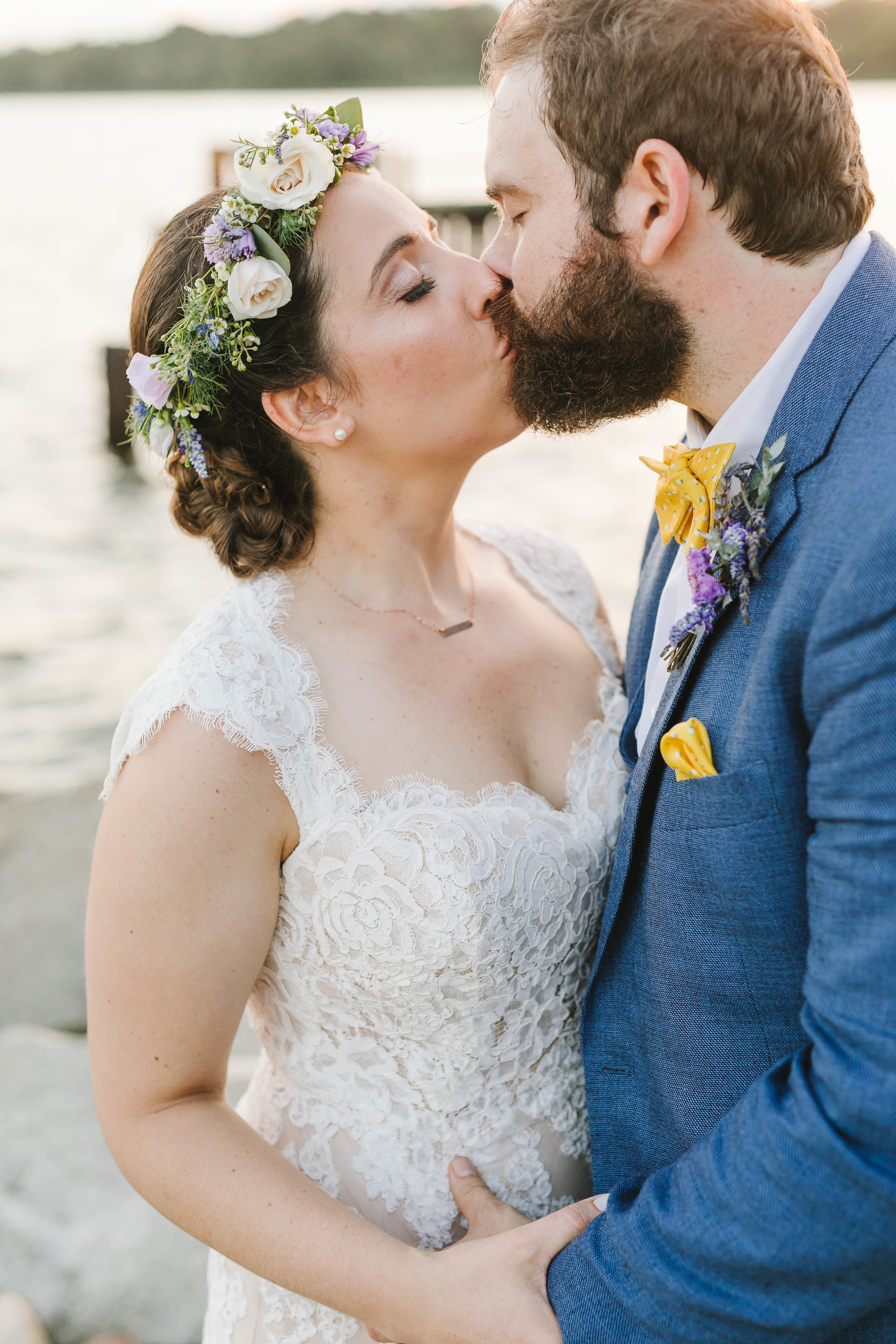 Mount Hope Farm Bristol Rhode Island RI New England Coastal Flower Crown Wedding - Emily Tebbetts Photography-22.jpg