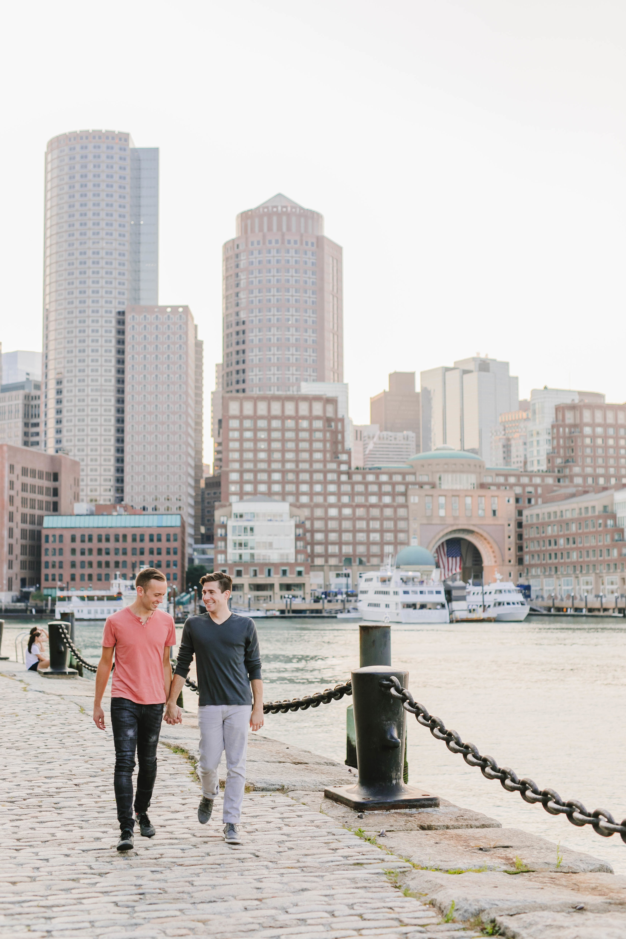 Fort Point Boston City Engagement Session ICA Childrens Museum LGBTQ same sex couple - Emily Tebbetts Photography-63.jpg