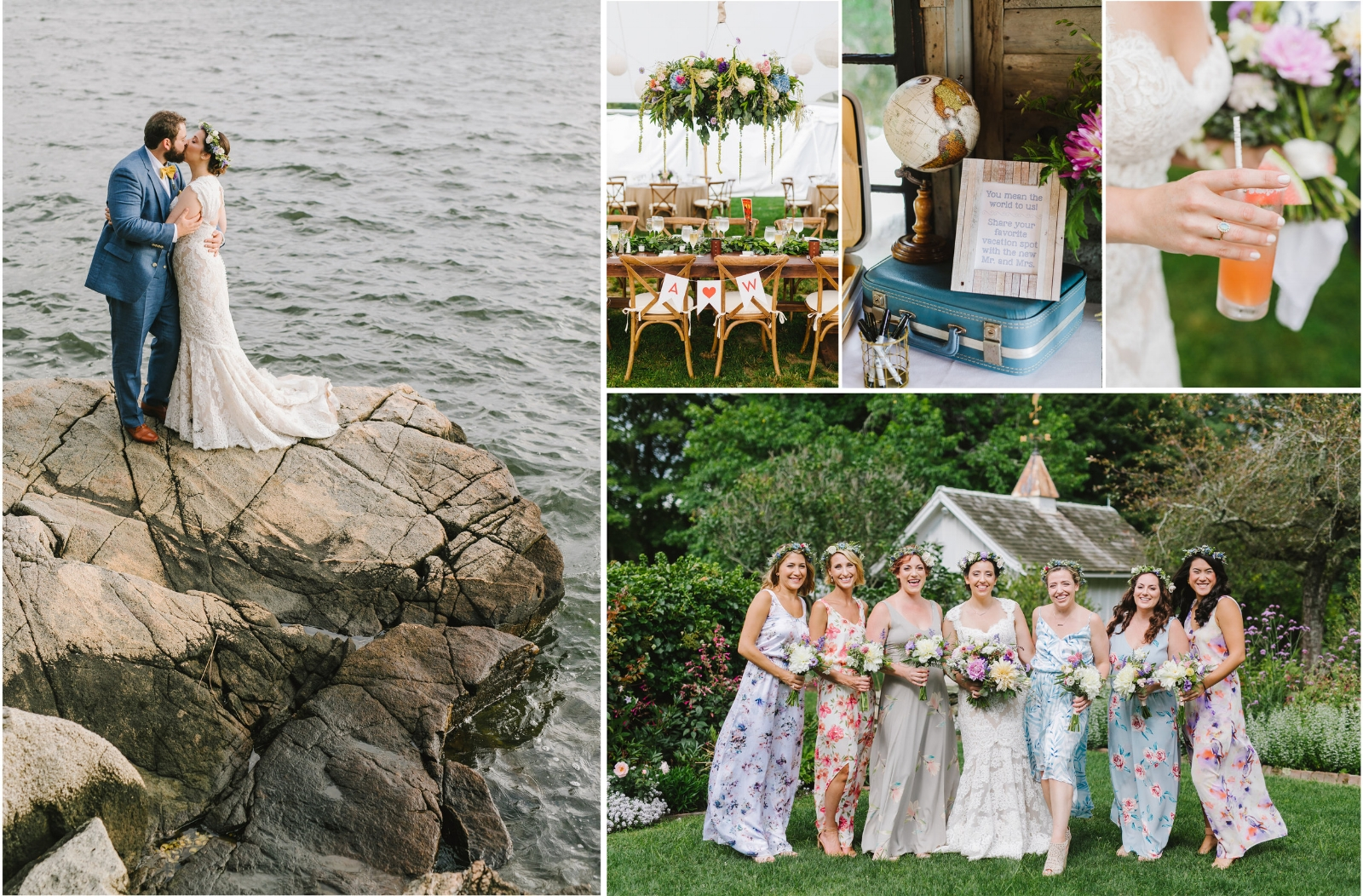 Andy + Wes - Romantic seaside wedding at Mount Hope Farm, Bristol, RI