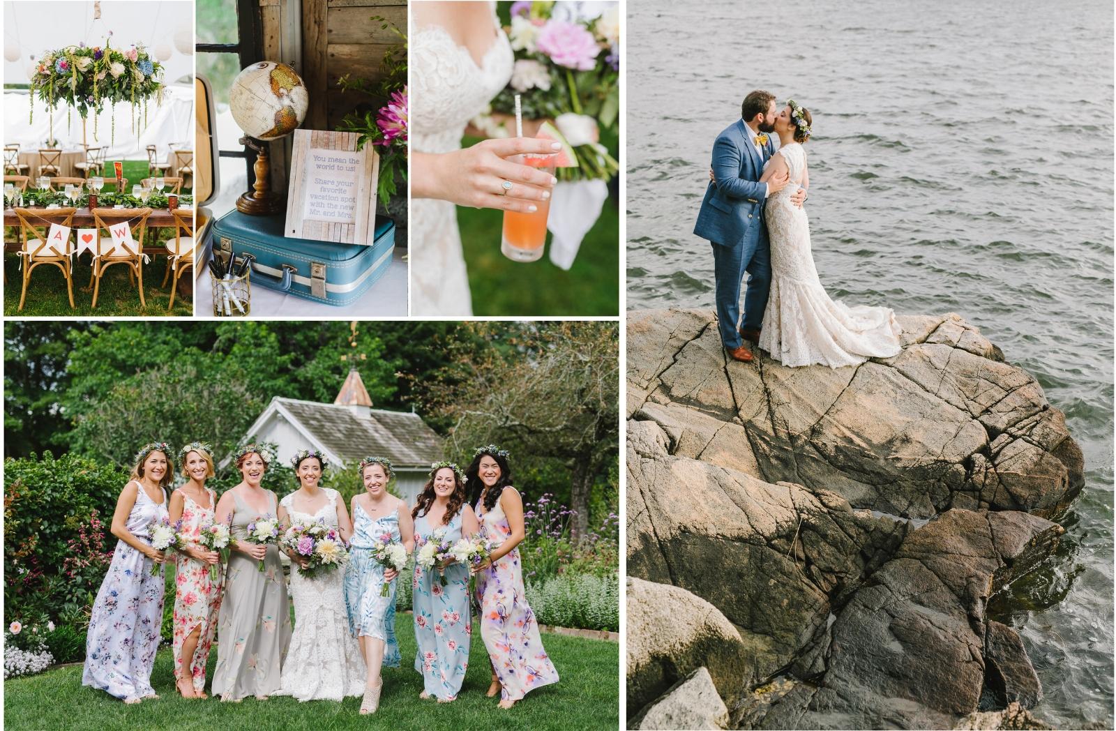 Andy + Wes - Romantic Seaside wedding at Mount Hope Farm, Bristol, Rhode Island