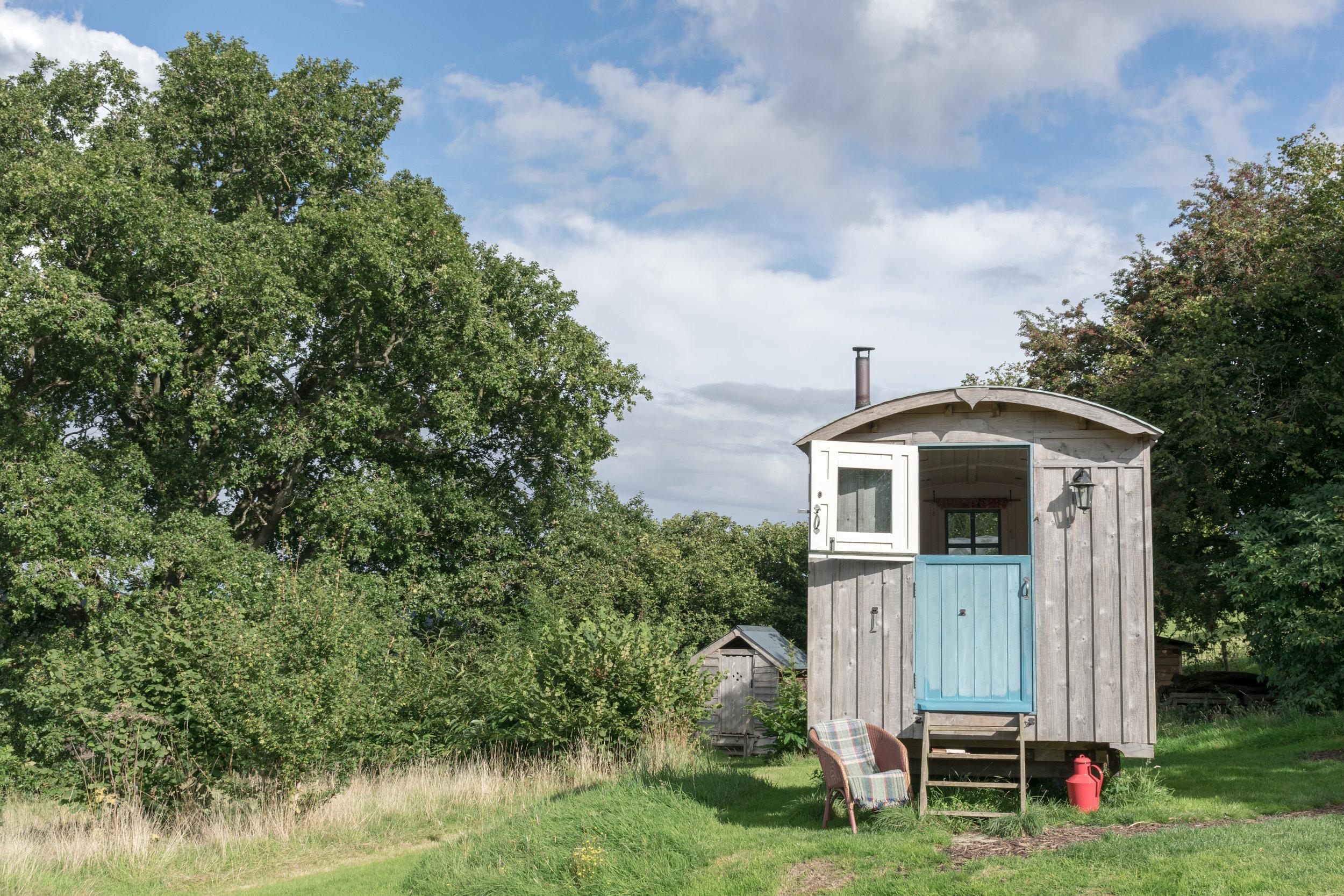 Shepherd's hut, glamping, Wales, Powys