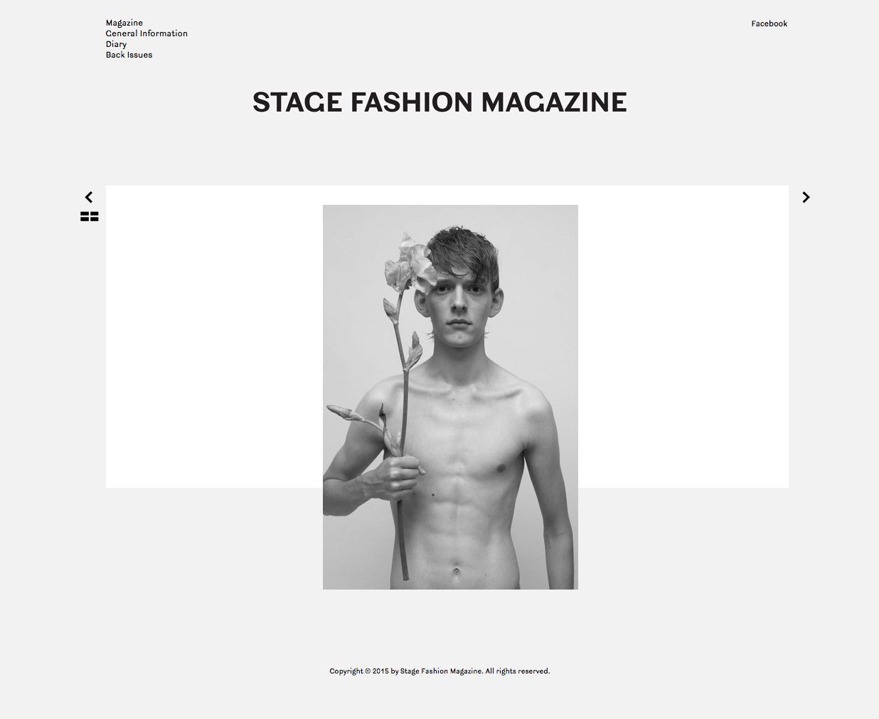 Série photographique pour  Stage Fashion Magazine