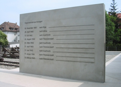 Memorial to the deportation of Stuttgart's Jews