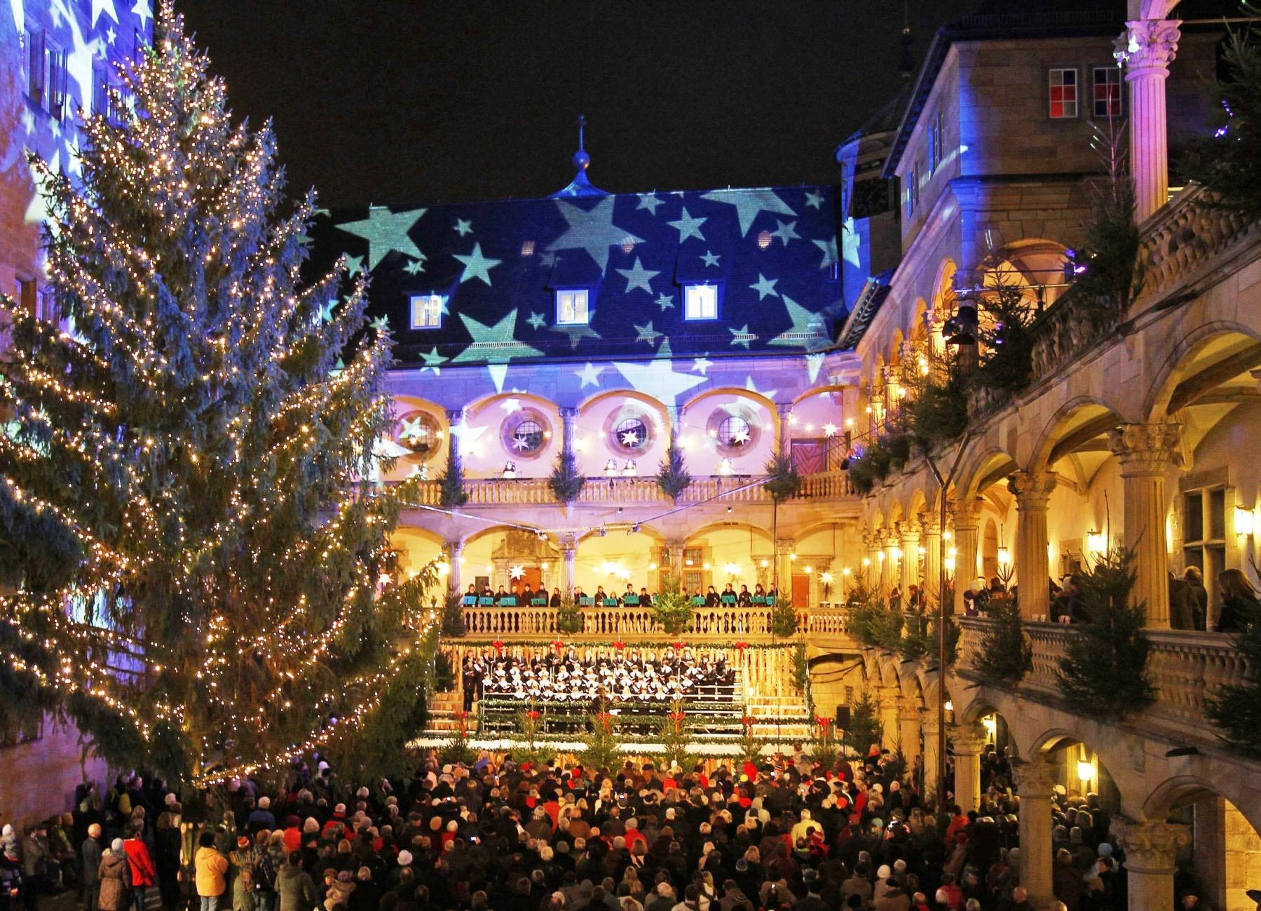 Stuttgart's Alte Schloss at Christmas